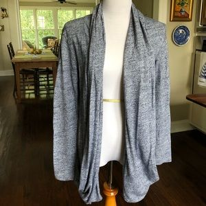 UGG blue marled open cardigan w/pockets